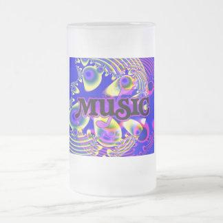 音楽の愛のため! フロストグラスビールジョッキ