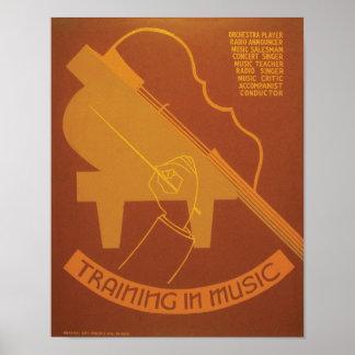 音楽の訓練 ポスター