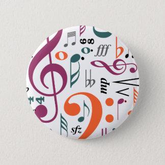 音楽の記号 5.7CM 丸型バッジ