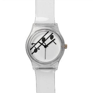 音楽はよろしいです第28腕時計ゆとりか黒または白注意します 腕時計