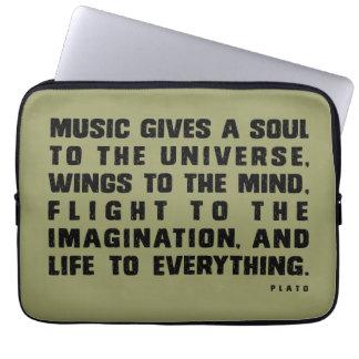 音楽は与えます ラップトップスリーブ