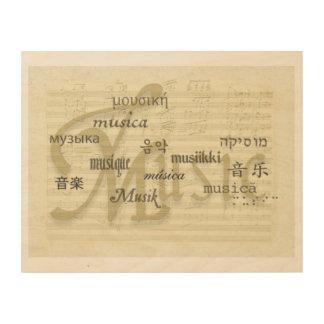 音楽は世界共通語です ウッドウォールアート