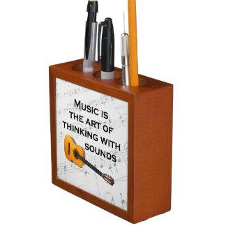音楽は健全なギターと考えるです ペンスタンド