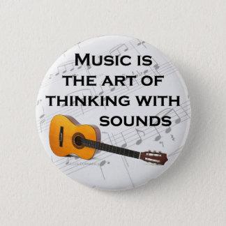 音楽は健全なギターと考えるです 5.7CM 丸型バッジ