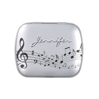音楽は名前をカスタムするを用いるキャンディー缶に注意します 缶入りキャンディー