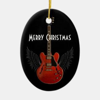 音楽は天国のクリスマスのオーナメントです セラミックオーナメント