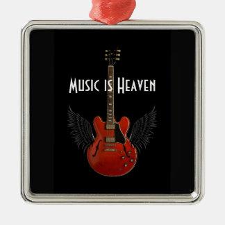 音楽は天国のクリスマスのオーナメントです メタルオーナメント