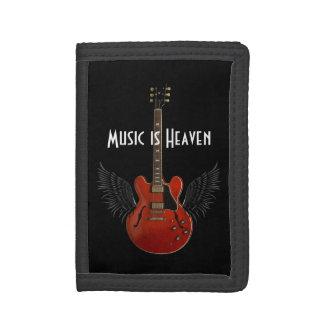 音楽は天国の三重ナイロン財布です