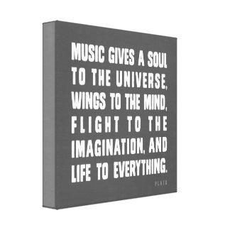 音楽は宇宙に精神を与えます キャンバスプリント