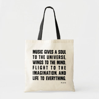 音楽は宇宙に精神を与えます トートバッグ