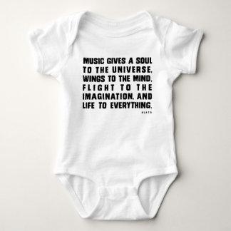 音楽は宇宙に精神を与えます ベビーボディスーツ