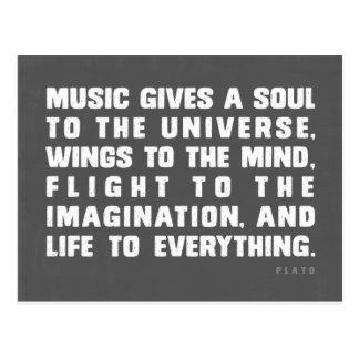 音楽は宇宙に精神を与えます ポストカード
