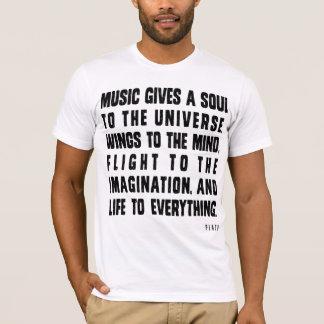 音楽は宇宙に精神を与えます Tシャツ