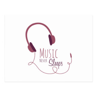 音楽は決して眠りません ポストカード