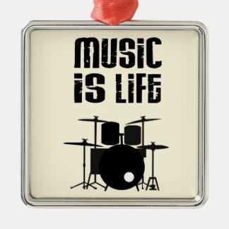 音楽は生命です メタルオーナメント
