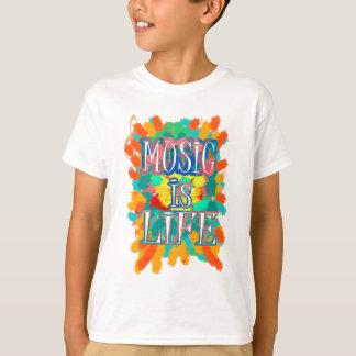 音楽は生命です Tシャツ