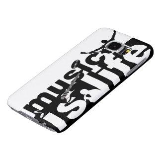 音楽は生命電話箱です SAMSUNG GALAXY S6 ケース