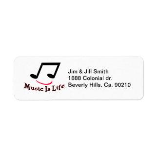 音楽は生命音符のスマイリーです ラベル