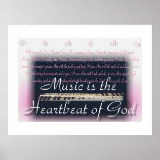 音楽は神ポスターの心拍です ポスター
