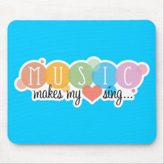 音楽は私のハートを歌わせます マウスパッド