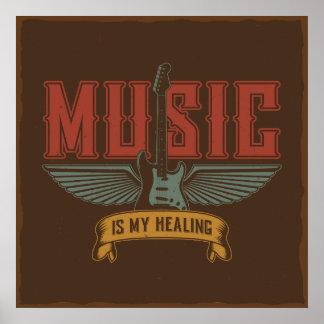 音楽は私の治療のインスピレーションです プリント