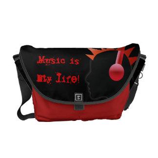 音楽は私の生命です クーリエバッグ