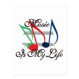 音楽は私の生命です ポストカード