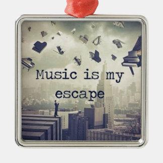 音楽は私の脱出です メタルオーナメント