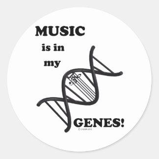 音楽は私の遺伝子にあります ラウンドシール