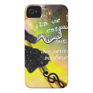 音楽は私達の生命に幸福を持って来ます Case-Mate iPhone 4 ケース