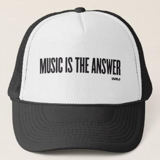 音楽は答えです キャップ