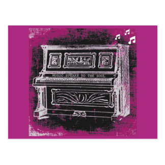 音楽は郵便はがきを話します ポストカード