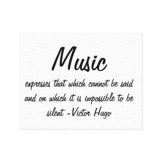 音楽は…表現します キャンバスプリント