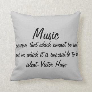 音楽は…表現します クッション