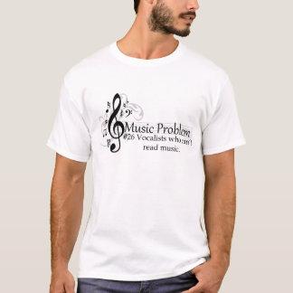 音楽を読むことができないボーカリスト Tシャツ