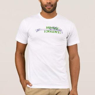 音楽エンジンの®の広告宣伝 Tシャツ