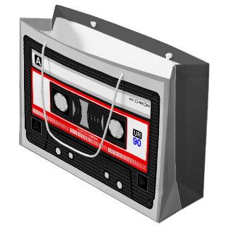 音楽カセットテープ大きいギフトバッグ ラージペーパーバッグ