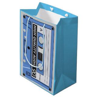 音楽カセットテープ媒体のギフトバッグ ミディアムペーパーバッグ