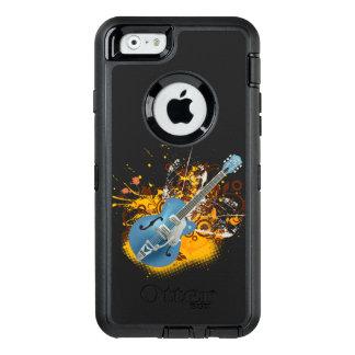 音楽ギターのヴィンテージのベクトル渦巻の芸術 オッターボックスディフェンダーiPhoneケース