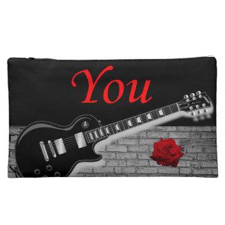音楽ギター女の子の化粧品のバッグを揺すります コスメティックバッグ