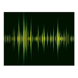 音楽グラフィックの平衡装置 ポストカード