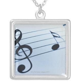 音楽シート シルバープレートネックレス