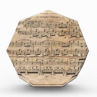 音楽シート 表彰盾