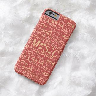 音楽ジャンルの単語のコラージュのケース BARELY THERE iPhone 6 ケース