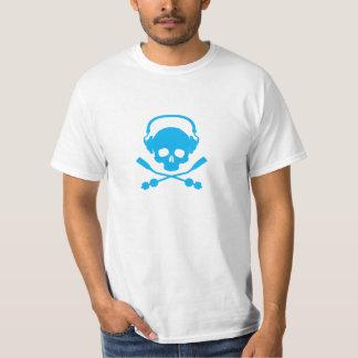 音楽スカル-青 Tシャツ