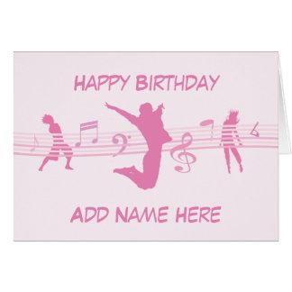 音楽ダンスおよび戯曲ピンク グリーティングカード