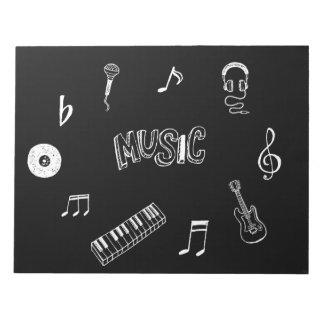 音楽テーマのノート ノートパッド