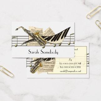 音楽デザインのプロフィールカード 名刺