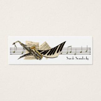 音楽デザインの小型プロフィールカード スキニー名刺