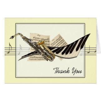 音楽デザインの挨拶状 ノートカード